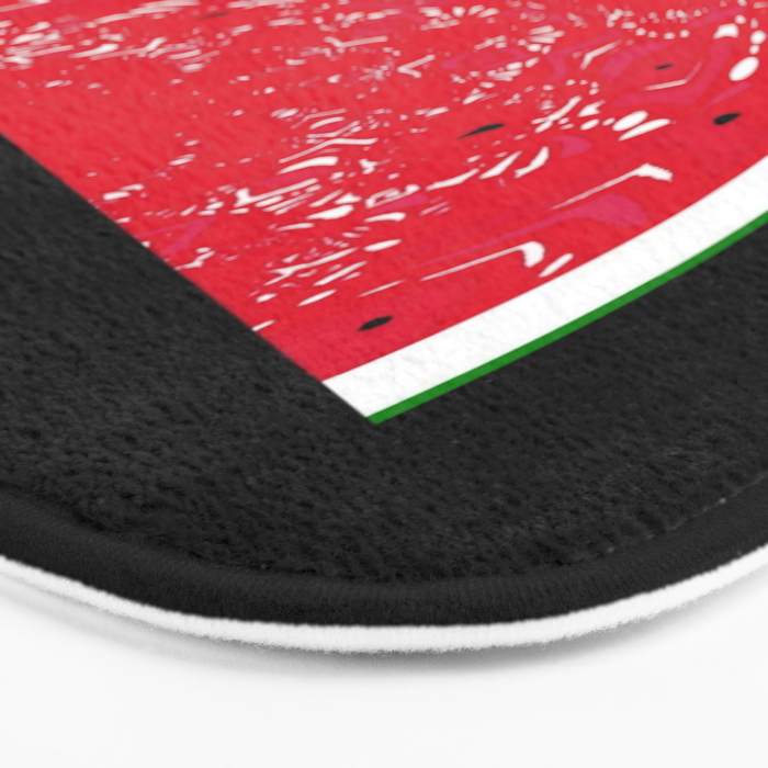 """An Estimated 1600 people in the world are named """"Watermelon"""" Bath Mat"""