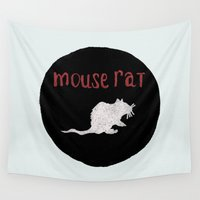 rat Wall Tapestries featuring Mouse Rat by Shelby Ticsay