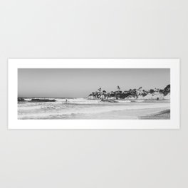 Wavy San Diego Beach Panorama Art Print