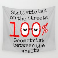 math Wall Tapestries featuring Math Geek by mailboxdisco