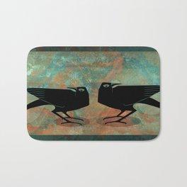 Odin's Ravens Huginn and Muninn Bath Mat