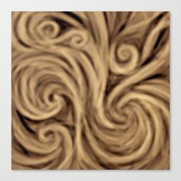 bohemian burnt sienna swirl pattern Canvas Print