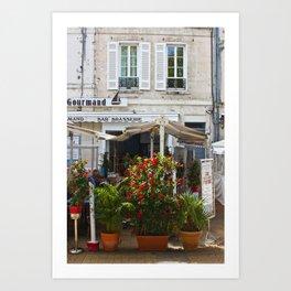 Brasserie in La Rochelle, France Art Print