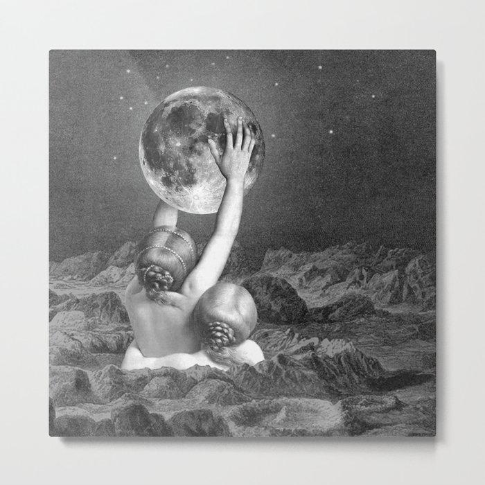 UNDER SAPPHO'S MOON Metal Print
