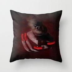 Grunge Bang Bang Red Nails  Throw Pillow