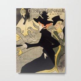 Henri de Toulouse-Lautrec - Divan Japonais Metal Print