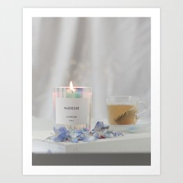 Relaxing Candle & Tea Art Print