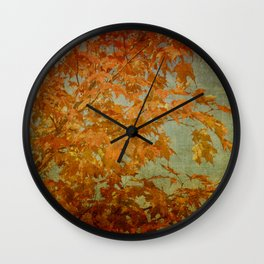 Maple Leaves Wall Clock