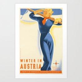 Winter in Austria Poster Art Print