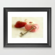 Key to My Heart Framed Art Print