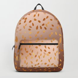 Golden Leaves in The Autumn Backpack