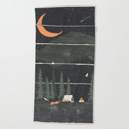 Wish I Was Camping... Beach Towel