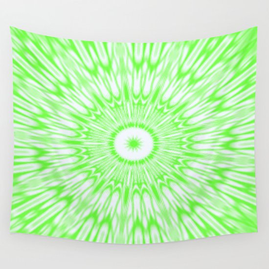 Lime Green Kaleidoscope Wall Tapestry