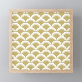 Japanese Fan Pattern 132 Gold Framed Mini Art Print