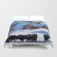buffalo Duvet Covers featuring Buffalo Blast by John Turck