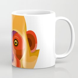 Golden-headed Langur Flat Icon Coffee Mug