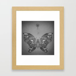 Faces Butterfly 3 Framed Art Print