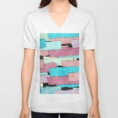 Colorful Patches Unisex V-Neck