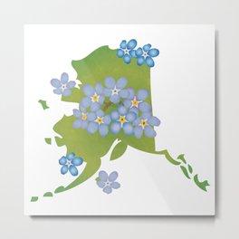 Alaska Forget-Me-Not Metal Print