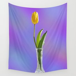 Yellow Tulip Wall Tapestry