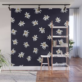 Swiss Flower Print Wall Mural