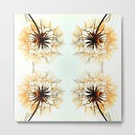 dandelions mosaic Metal Print