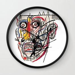 Basquiat Crazy Head Wall Clock