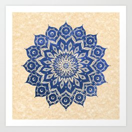 ókshirahm sky mandala Art Print