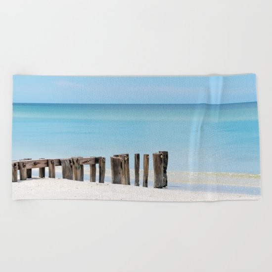 Leading to the Water Beach Towel