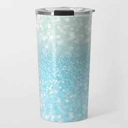 Mermaid Sea Foam Ocean Ombre Glitter Travel Mug