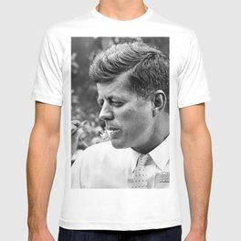 JFK smoking marijuana photo print poster John F Kennedy weed joint smoker gift cigar vintage photograph art President wall decor T-shirt