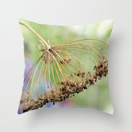 Dried Dill Throw Pillow
