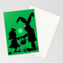 Silhouette Easter Bunny Gift Stationery Cards