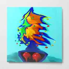 Flying overseas the xmas tree... Metal Print