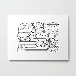 Geometric feast; geometry pattern; geometry illustration;coloring book Metal Print