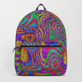 Psychedelic Rainbow Glitter Bomb Backpack