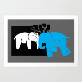 Smashing the Bell Elephant Art Print