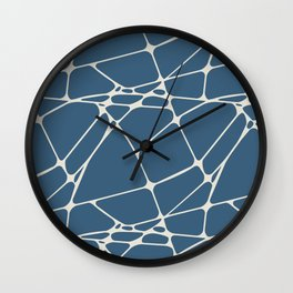 Linen White & Blue Abstract Mosaic Pattern 1 Pairs To 2020 Color of the Year Chinese Porcelain Wall Clock