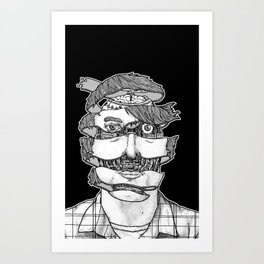 portrait of the artist as an unraveling drone Art Print