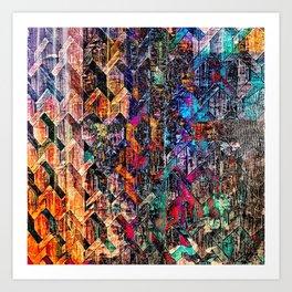 Colored Links Art Print