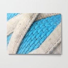 Shoe Fabric Close- Up Metal Print