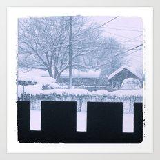 Snow day Art Print
