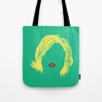 monroe Tote Bags featuring Monroe by fly fly away