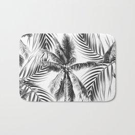 South Pacific palms II - bw Bath Mat