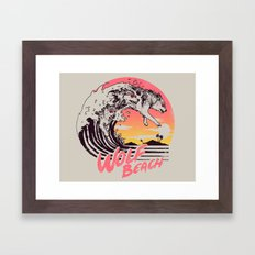 Wolf Beach Framed Art Print