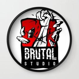 Brutal Studio Logo Wall Clock