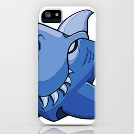 Shark - Little Boy Blue iPhone Case
