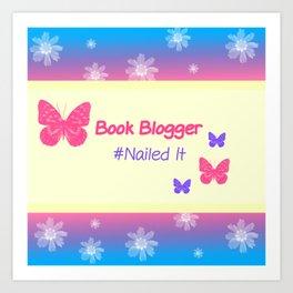 Book Blogger Art Print