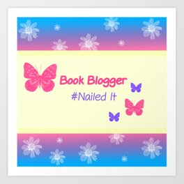 Book Blogger Art Print