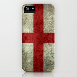 Flag of England (St. George's Cross) Vintage retro style iPhone Case